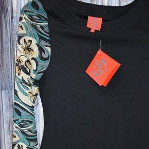 Tracy Negoshian Nadine Dress Black Sheer Sleeve S